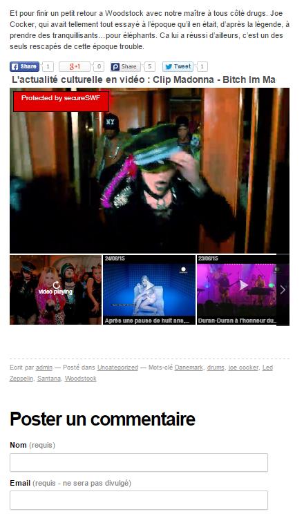 Exemple de contenu vidéo