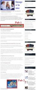 Exemple d'un article du blog intégrant une bannière en haut et un rectangle dans le contenu.