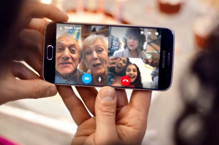 vidéo groupe skype