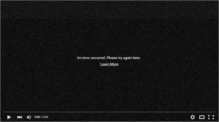 youtube erreur