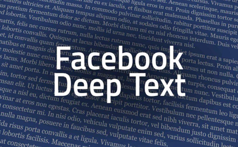 Facebook deeptext