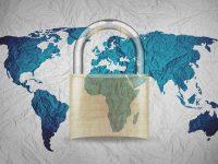 Carte du monde avec un cadenas