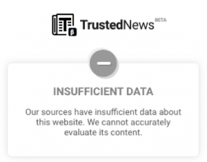 insufficient data website